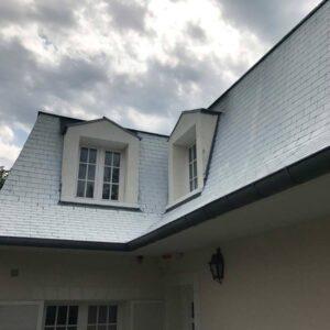 rénovation d'une toiture en ardoise